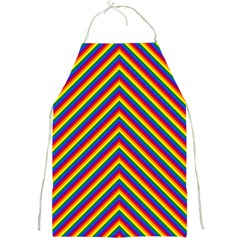 Gay Pride Flag Rainbow Chevron Stripe Full Print Aprons