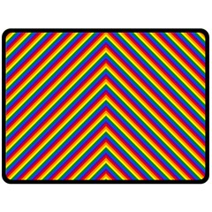 Gay Pride Flag Rainbow Chevron Stripe Fleece Blanket (large)