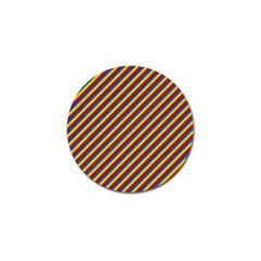 Gay Pride Flag Candy Cane Diagonal Stripe Golf Ball Marker (4 Pack)