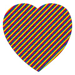 Gay Pride Flag Candy Cane Diagonal Stripe Jigsaw Puzzle (heart)