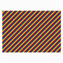 Gay Pride Flag Candy Cane Diagonal Stripe Large Glasses Cloth (2 Side)