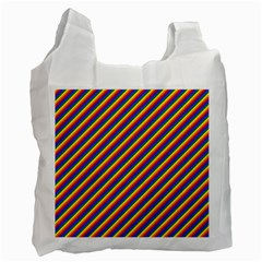 Gay Pride Flag Candy Cane Diagonal Stripe Recycle Bag (two Side)