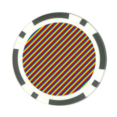 Gay Pride Flag Candy Cane Diagonal Stripe Poker Chip Card Guard (10 Pack)