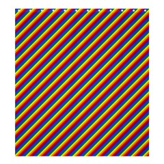 Gay Pride Flag Candy Cane Diagonal Stripe Shower Curtain 66  X 72  (large)