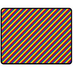 Gay Pride Flag Candy Cane Diagonal Stripe Fleece Blanket (medium)