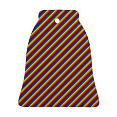 Gay Pride Flag Candy Cane Diagonal Stripe Bell Ornament (two Sides)