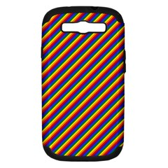 Gay Pride Flag Candy Cane Diagonal Stripe Samsung Galaxy S Iii Hardshell Case (pc+silicone)