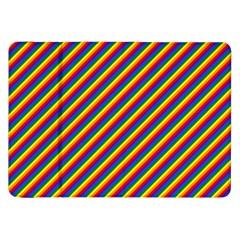Gay Pride Flag Candy Cane Diagonal Stripe Samsung Galaxy Tab 8 9  P7300 Flip Case