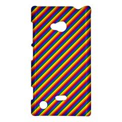 Gay Pride Flag Candy Cane Diagonal Stripe Nokia Lumia 720