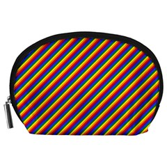 Gay Pride Flag Candy Cane Diagonal Stripe Accessory Pouches (large)