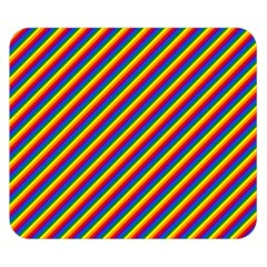 Gay Pride Flag Candy Cane Diagonal Stripe Double Sided Flano Blanket (small)