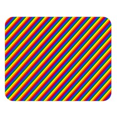 Gay Pride Flag Candy Cane Diagonal Stripe Double Sided Flano Blanket (large)