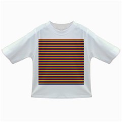 Horizontal Gay Pride Rainbow Flag Pin Stripes Infant/toddler T Shirts
