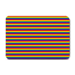 Horizontal Gay Pride Rainbow Flag Pin Stripes Small Doormat