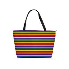 Horizontal Gay Pride Rainbow Flag Pin Stripes Shoulder Handbags