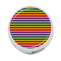 Horizontal Gay Pride Rainbow Flag Pin Stripes 4 Port Usb Hub (one Side)