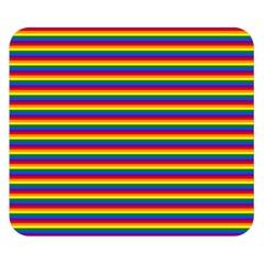 Horizontal Gay Pride Rainbow Flag Pin Stripes Double Sided Flano Blanket (small)