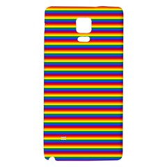 Horizontal Gay Pride Rainbow Flag Pin Stripes Galaxy Note 4 Back Case