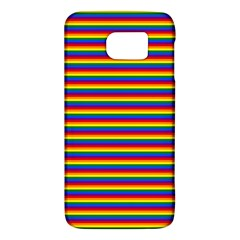 Horizontal Gay Pride Rainbow Flag Pin Stripes Galaxy S6