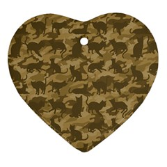 Operation Desert Cat Camouflage Catmouflage Ornament (heart)