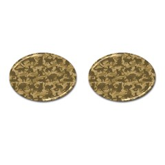 Operation Desert Cat Camouflage Catmouflage Cufflinks (oval)