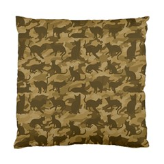 Operation Desert Cat Camouflage Catmouflage Standard Cushion Case (two Sides)