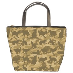 Operation Desert Cat Camouflage Catmouflage Bucket Bags