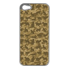 Operation Desert Cat Camouflage Catmouflage Apple Iphone 5 Case (silver)