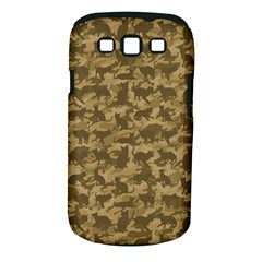 Operation Desert Cat Camouflage Catmouflage Samsung Galaxy S Iii Classic Hardshell Case (pc+silicone)