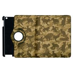 Operation Desert Cat Camouflage Catmouflage Apple Ipad 2 Flip 360 Case