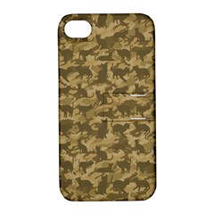 Operation Desert Cat Camouflage Catmouflage Apple Iphone 4/4s Hardshell Case With Stand