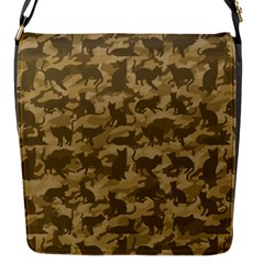 Operation Desert Cat Camouflage Catmouflage Flap Messenger Bag (s)
