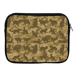Operation Desert Cat Camouflage Catmouflage Apple Ipad 2/3/4 Zipper Cases
