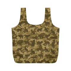 Operation Desert Cat Camouflage Catmouflage Full Print Recycle Bags (m)