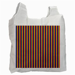 Vertical Gay Pride Rainbow Flag Pin Stripes Recycle Bag (one Side)