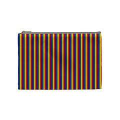 Vertical Gay Pride Rainbow Flag Pin Stripes Cosmetic Bag (medium)
