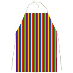Vertical Gay Pride Rainbow Flag Pin Stripes Full Print Aprons