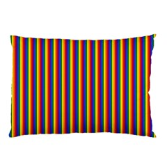 Vertical Gay Pride Rainbow Flag Pin Stripes Pillow Case (two Sides)