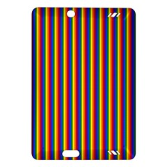 Vertical Gay Pride Rainbow Flag Pin Stripes Amazon Kindle Fire Hd (2013) Hardshell Case