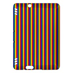 Vertical Gay Pride Rainbow Flag Pin Stripes Kindle Fire Hdx Hardshell Case