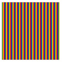 Vertical Gay Pride Rainbow Flag Pin Stripes Large Satin Scarf (square)