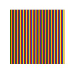 Vertical Gay Pride Rainbow Flag Pin Stripes Small Satin Scarf (square)