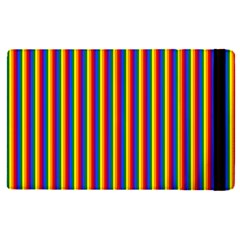 Vertical Gay Pride Rainbow Flag Pin Stripes Apple Ipad Pro 12 9   Flip Case