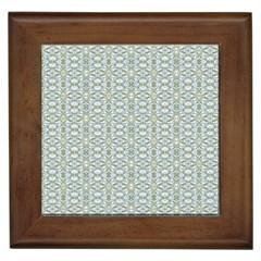 Vintage Ornate Pattern Framed Tiles