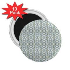 Vintage Ornate Pattern 2 25  Magnets (10 Pack)