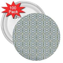 Vintage Ornate Pattern 3  Buttons (100 Pack)