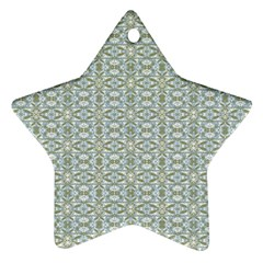 Vintage Ornate Pattern Star Ornament (two Sides)