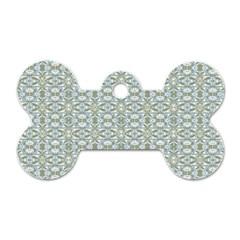 Vintage Ornate Pattern Dog Tag Bone (two Sides)
