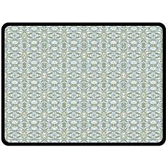 Vintage Ornate Pattern Fleece Blanket (large)