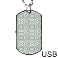 Vintage Ornate Pattern Dog Tag Usb Flash (two Sides)